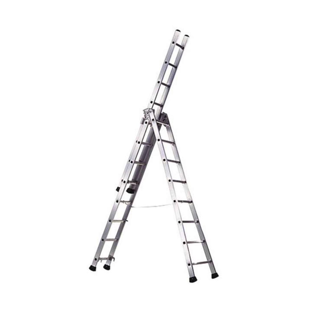 Alquiler de escalera extensible tijera 3 tramos de 9 70m for Escaleras extensibles