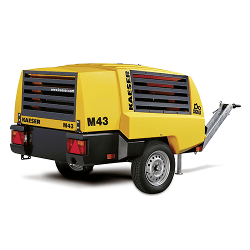 Alquiler-Compresor de aire diesel 4m3/min, 7bar