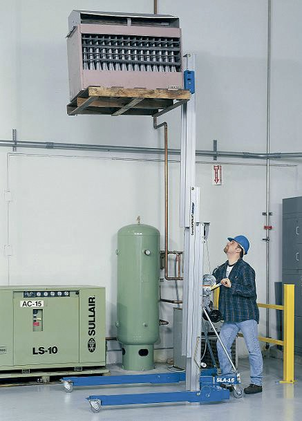 Alquiler-Elevador manual de material 6,50m, 363 kg