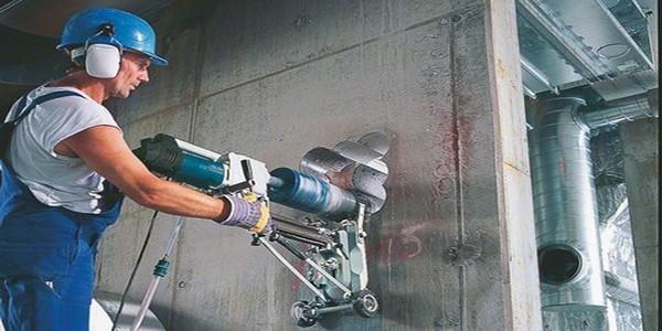 Alquiler de perforadora con soporte