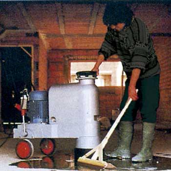 Pulidora para rebajar suelos