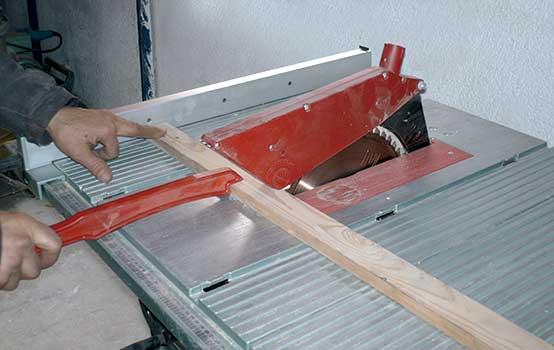 Alquiler de tronzadora de madera