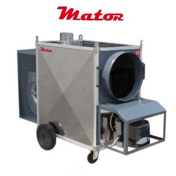 Alquiler-Generador aire caliente a gasóleo, grandes volúmenes, Zeus 80 KW, 230v.
