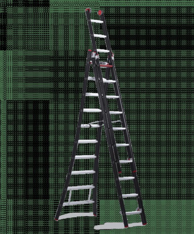Alquiler de escalera extensible tijera 3 tramos 5 8m - Alquiler de escaleras ...