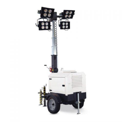 Alquiler-Torre de iluminación exterior autónoma 4 focos 290W LED