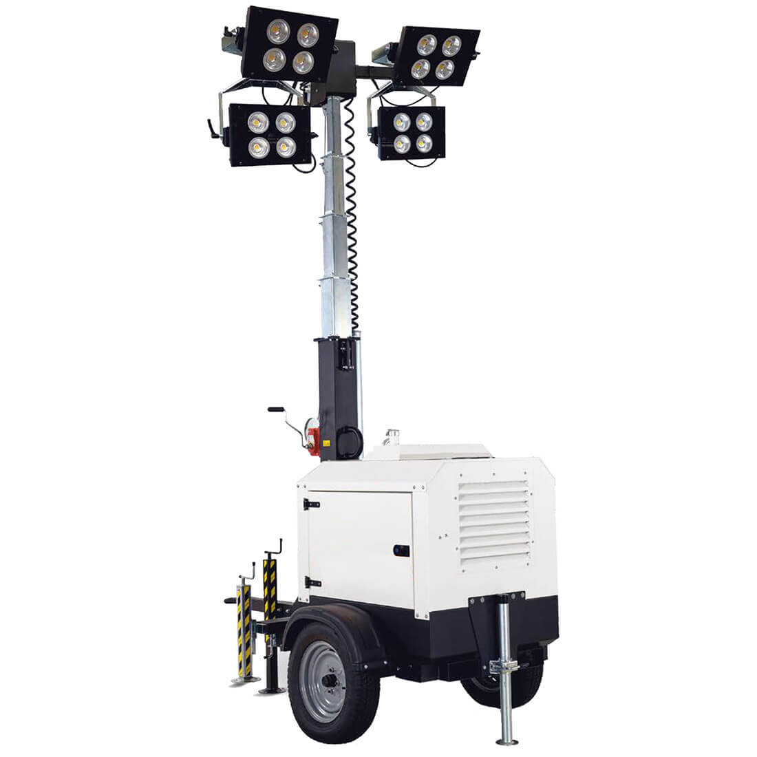 Alquiler de torre de iluminaci n 4 focos led con remolque for Focos iluminacion exterior