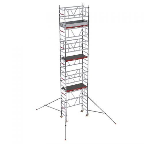 Alquiler-Torre de aluminio móvil 1,25x0,80m, altura de trabajo 4, 5 y 6m
