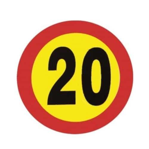 señal velocidad 20 km/h