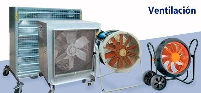 Alquiler-Equipo de de ventilación doméstica e industrial